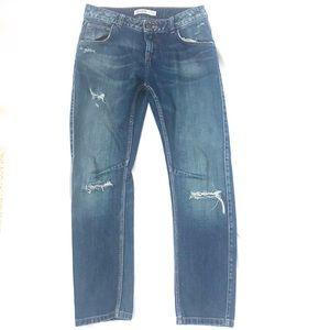 ZARA BASIC DENIM Super Distress Boyfriend Jeans